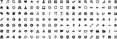 字体第1款:glyphicons-halflings-regular字体