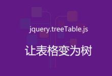 第105款插件:jquery.treetable.js的使用